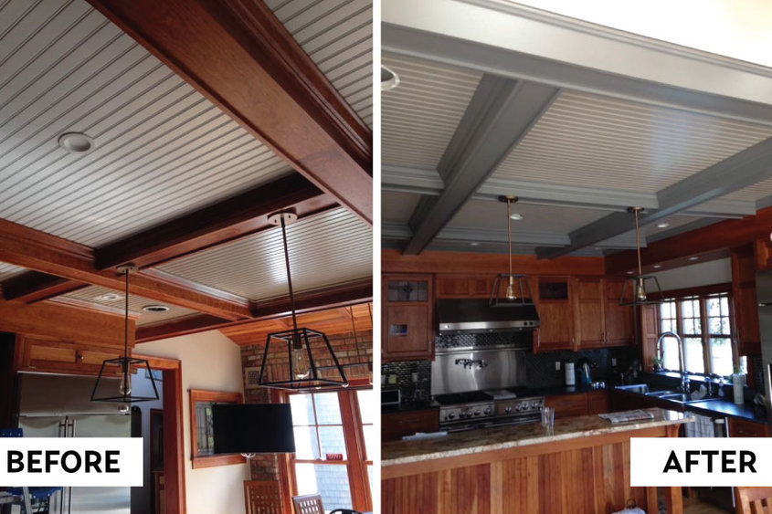 PHOTOS PROVIDED Kurt Osterlitz paint job before and after.