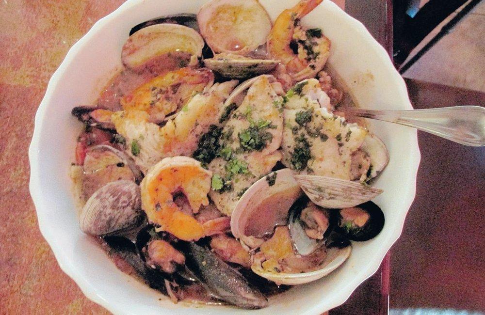 Nonna Maria's seafood dish.