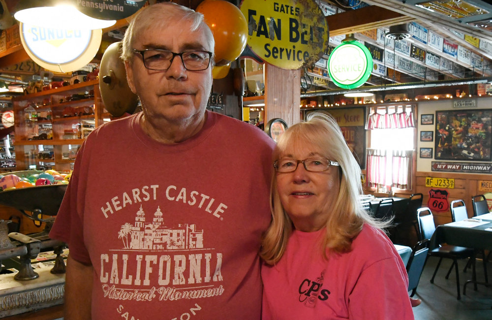 PETER R. BARBER/GAZETTE PHOTOGRAPHER Chuck and Carol Phillips at CP's Family Restaurant in Hagaman Tuesday, April 16, 2019.