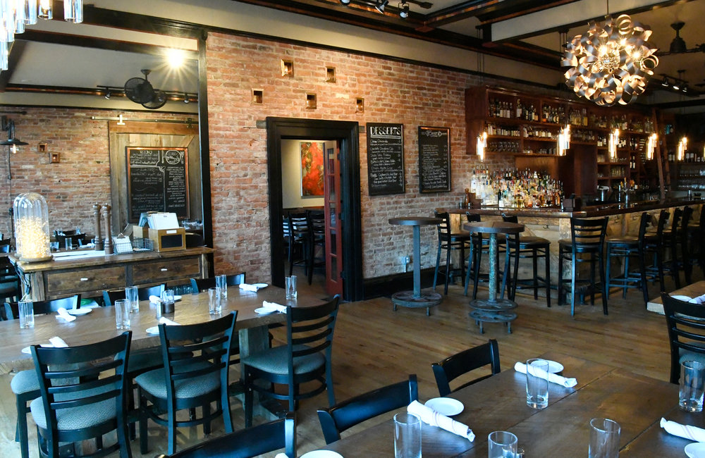 PETER R. BARBER/GAZETTE PHOTOGRAPHER The dining area at Next Door Kitchen & Bar on Front Street in Ballston Spa Tuesday, April 16, 2019.