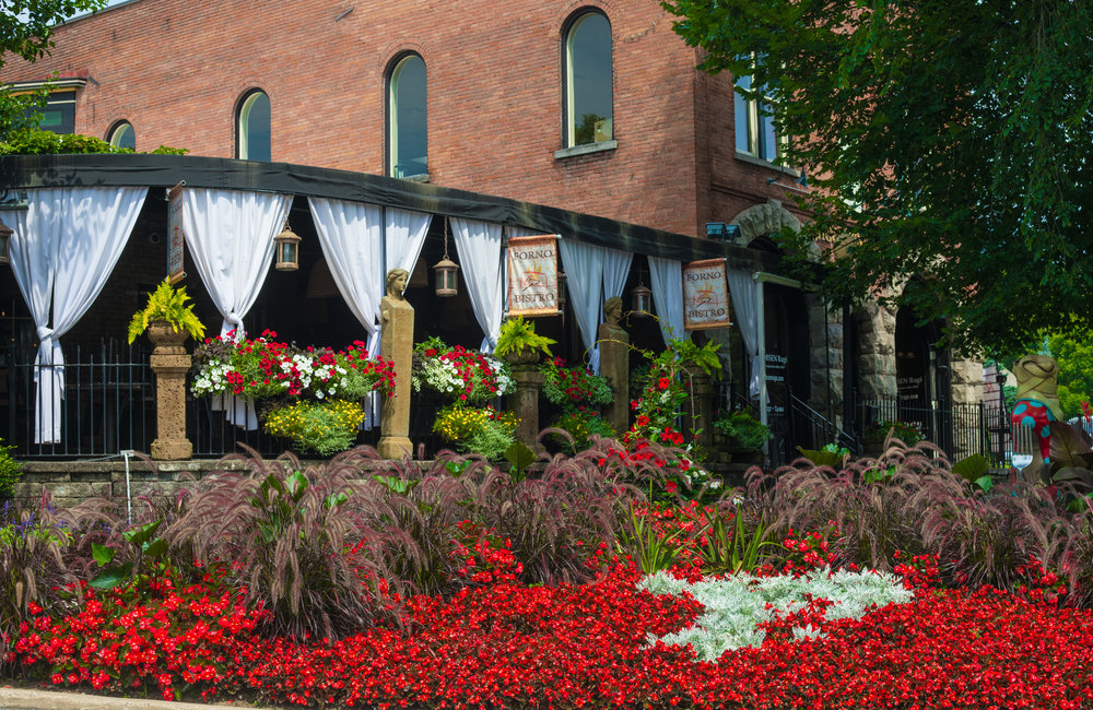 The exterior of Forno Bistro in Saratoga Springs.