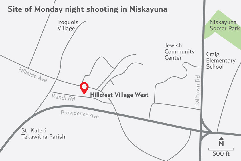 WEB Niskayuna Shooting locator map