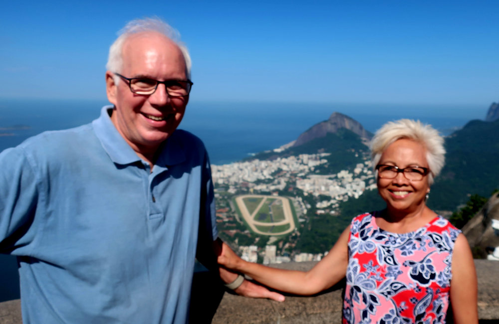 Tim and Leda Christy, during a recent trip to Brazil. Photo courtesy Tim Christy