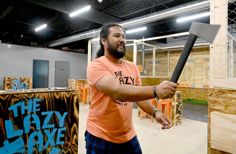 Bullseye! Capital Region locals aim to chop down stigma of axe