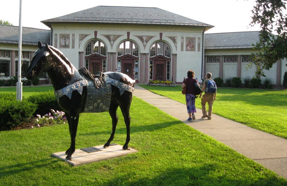 GAZETTE FILE PHOTO The Visitor Center in downtown Saratoga Springs.