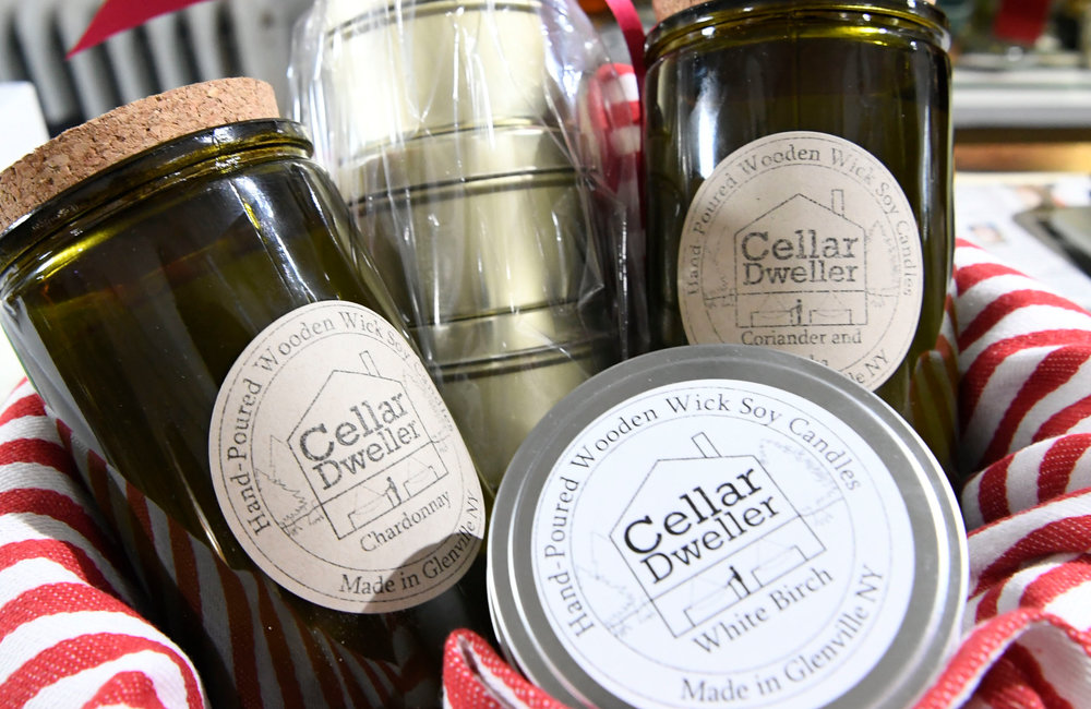 PETER R. BARBER/GAZETTE PHOTOGRAPHER William Schnore's scented candles on sale at b. inspired in Scotia Friday, November 15, 2019.