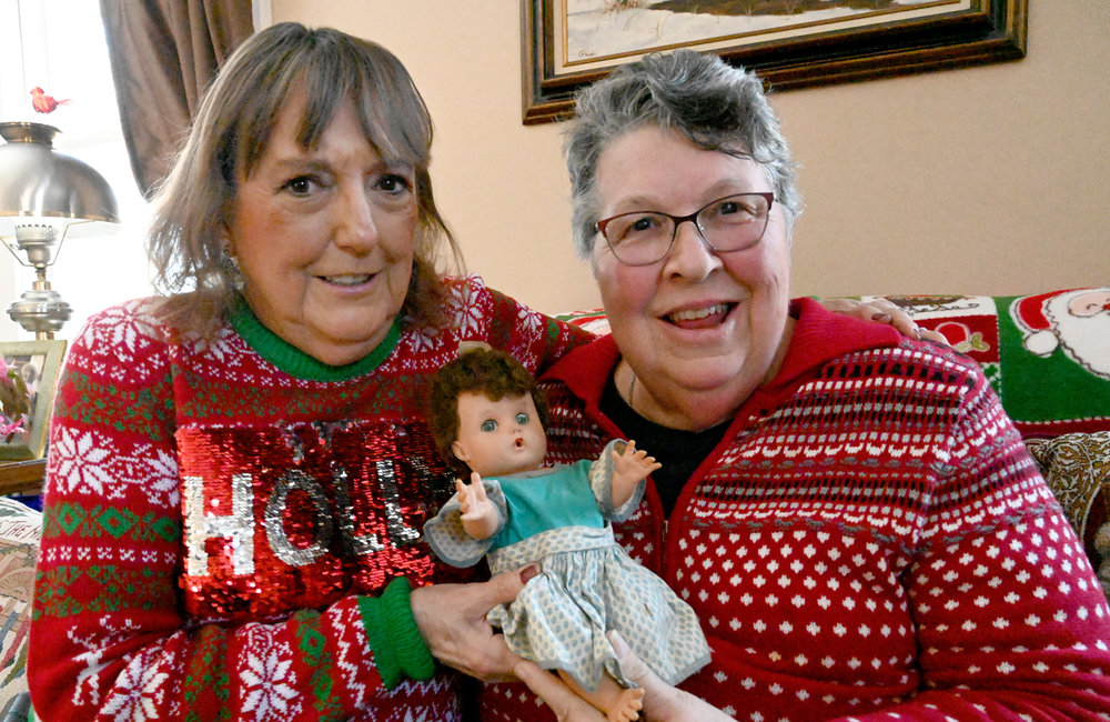 "MARC SCHULTZ/GAZETTE PHOTOGRAPHER Scotia resident Ann Kulkus, at right, and her sister, Colette Mozgawa old doll ""Terry""."
