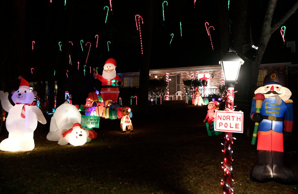 PETER R. BARBER/GAZETTE PHOTOGRAPHER Gary Brownell's display in Clifton Park Tuesday, November 26, 2019.