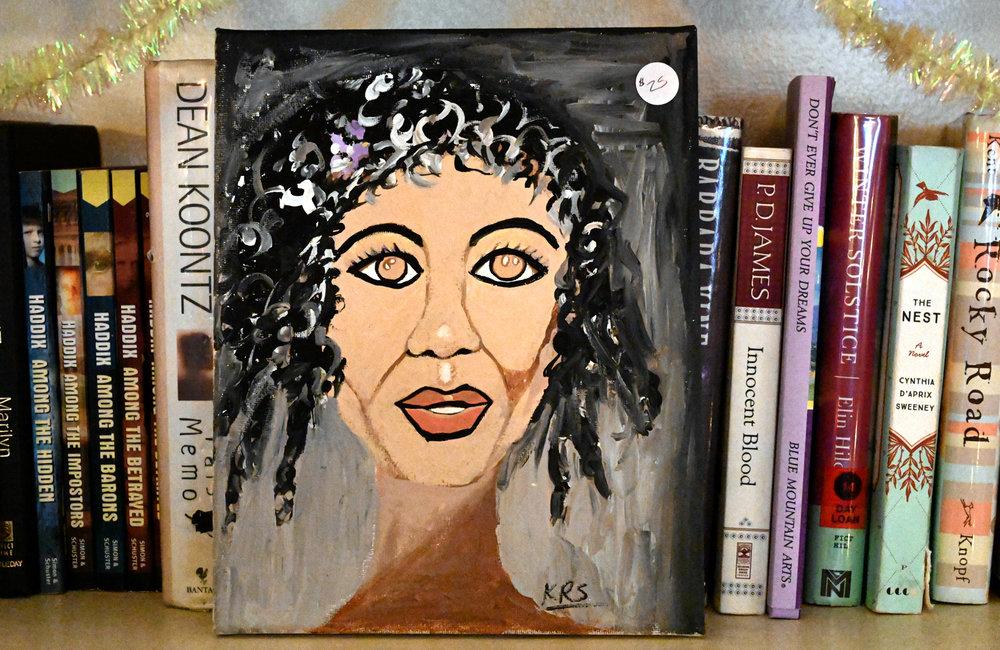 MARC SCHULTZ/GAZETTE PHOTOGRAPHER Keisha R. Stovall artwork on display at the YWCA.