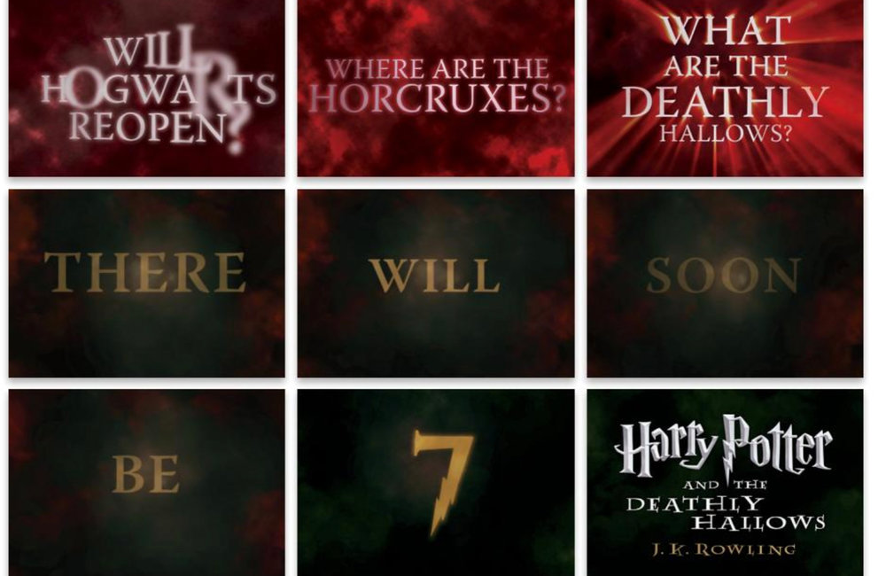 IMAGE PROVIDED Part of a marketing campaign created by Troy-based marketing firm id29 for the launch of the seventh Harry Potter book.
