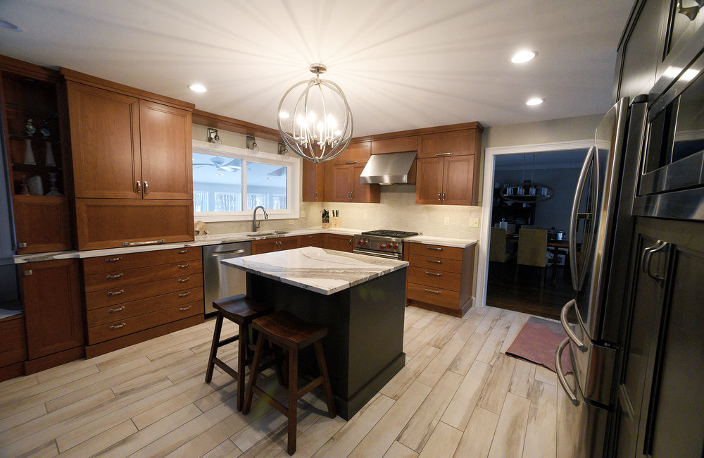 ERICA MILLER/STAFF PHOTOGRAPHER   Recently renovated kitchen by Marianne Clifford at 3 Hearthstone Drive in Gansevoort on Thursday, February 13, 2020.