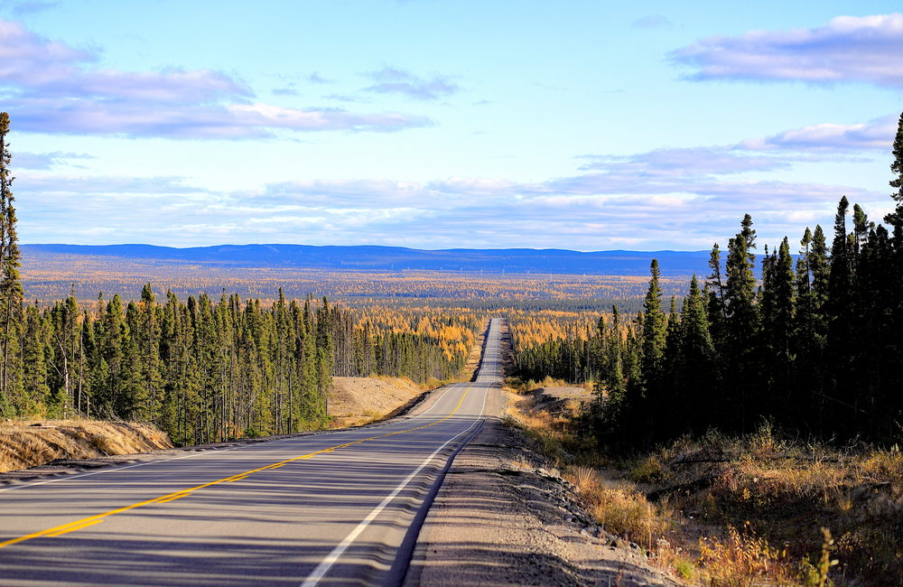 JOHN CROPLEY/Business Editor The Trans-Labrador Highway stretches south from Happy Valley-Goose Bay, seemingly endless. The 220-mile drive to the next town can take seven hours because the road is mostly unpaved, though that is gradually changing.